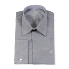 William Hunt Saville Row Forward Point Collar Black and White Shirt Size 16.5