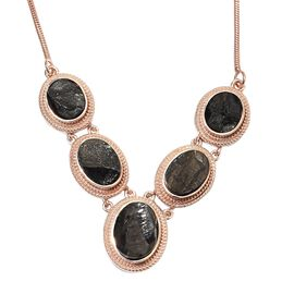 10 Carat Shungite Collar Necklace Copper with Magnet 18 Inch