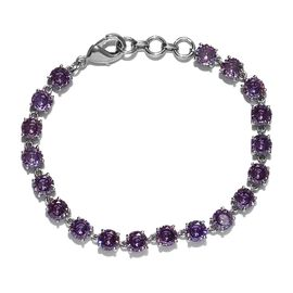 One Time Deal - Simulated Purple Colour Diamond Tennis Bracelet (Size 7.5)