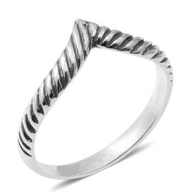 Designer Inspired-Sterling Silver Wishbone Ring
