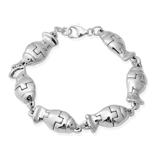 Charm Bracelet in Thai Sterling Silver 12.94 Grams 7.5 with 0.5 inch Extender