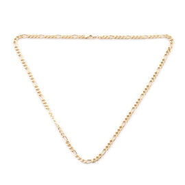 Royal Bali Collection - 9K Yellow Gold Figaro Necklace (Size 20), Gold wt 11.48 Gms.