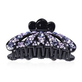 Crystal Studded Hair Claw Clip - Dark and Light Violet