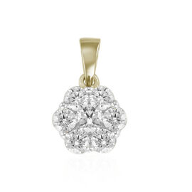 ILIANA 18K Yellow Gold IGI Certified Diamond (Rnd) (SI/G-H) Pressure Set Pendant 0.5ct