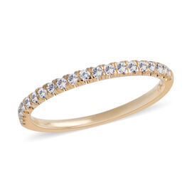 Super Auction- SIGNATURE COLLECTION 18K Yellow Gold Diamond (Rnd) (SI-I1/G-H) Half Eternity Band Ring  0.250 Ct.