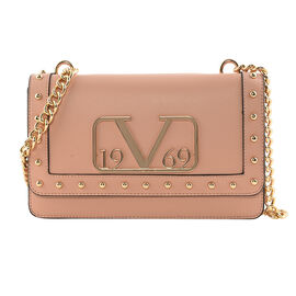 19V69 ITALIA by Alessandro Versace Crossbody Bag Detachable with Chain Strap (Size 27x6x17Cm) - Pink