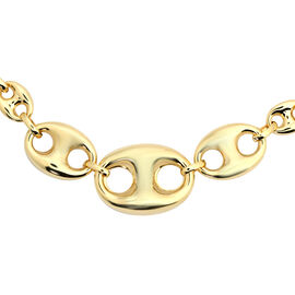 Hatton Garden Close Out- 9K Yellow Gold Mariner Bracelet (Size 7 with 1 inch Extender), Gold wt 5.80
