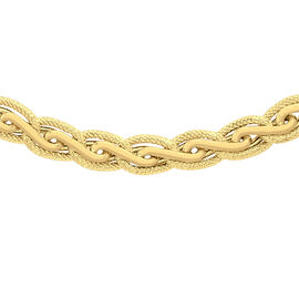 Italian Made 18 Inch Fancy Links Diamond Cut Necklace in 9K Gold 14.80 Grams