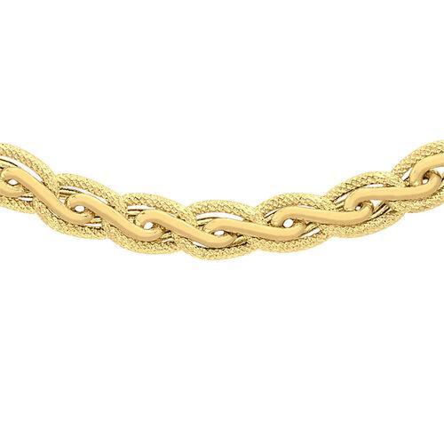 Italian Made 18 Inch Fancy Links Diamond Cut Necklace in 9K Gold 14.80 Grams