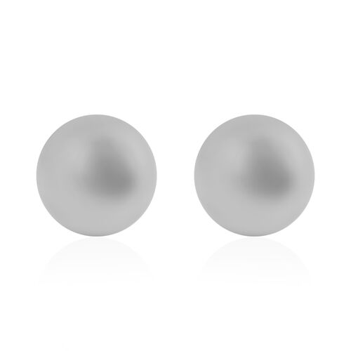 NY Close Out Deal- 10K White Gold Ball Stud Earrings