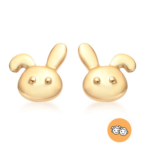 Children Bunny Earrings in Gold Plated Silver