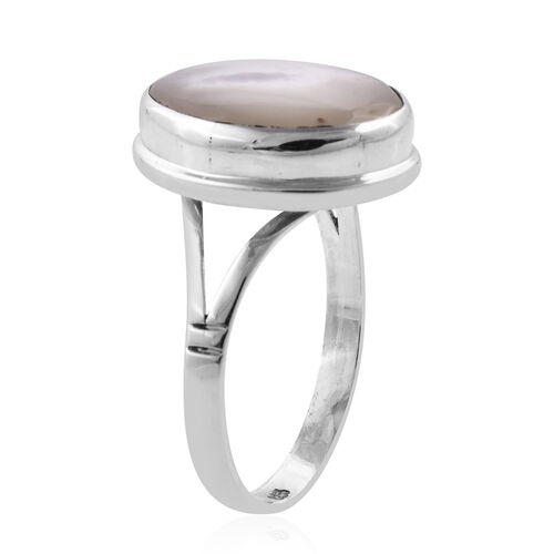 Royal Bali Collection Mother of Pearl (Ovl 16x12 mm) Ring in Sterling Silver
