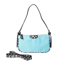 Hobo Bag Color Mint blue Size Profile Hobo bag  Wall (exterior) Nylon Lining (Interior) polyester  Pockets (exterior) zipped-1 Pockets (interior) zipped-1 slip-1 Measurement