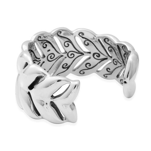 Designer Inspired- Sterling Silver Cuff Bangle (Size 7.5).Silver wt 29 Gms