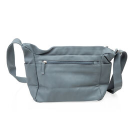New Season Super Soft  Crossbody Bag with 6 Compartments (Size 22x27x13 Cm) - Colour Blue