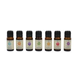 Set of 7 - Seven Chakras Essential Oils (Sahaswara, Ajna, Vishuddha, Anahata, Manipura, Svadhishthan