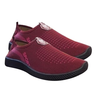 Sport and Leisure Slip-On Shoes in Red