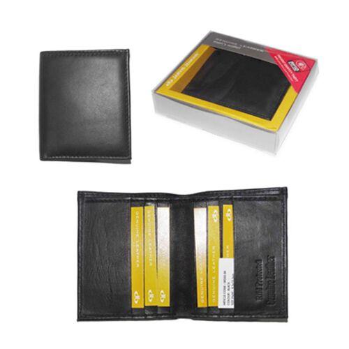 Close Out Deal 100% Genuine Leather Black RFID Blocking Mens Wallet (Size 8.5x10.5cm) - Bi Fold