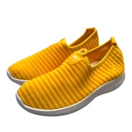 Low-Top Women's Synthetic Upper Shoes - Yellow