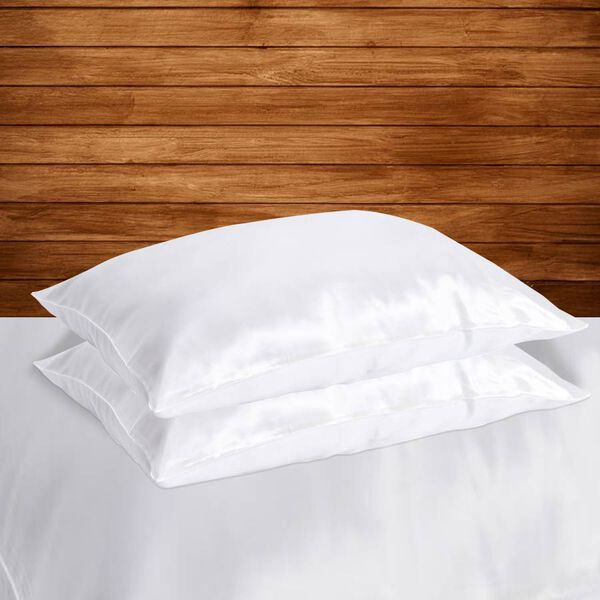 Serenity Night 100% Mulberry Silk Hyaluronic Acid and Argan Oil Infused Pillowcase (Size 50x75cm) - White
