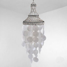Bali Collection - Decorative Handcrafted Windchime Shell Hanging (Size:83x25Cm) - White