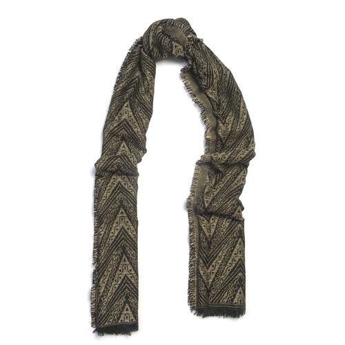 Black and Grey  Colour Lurex scarf (Size 185x70 Cm)