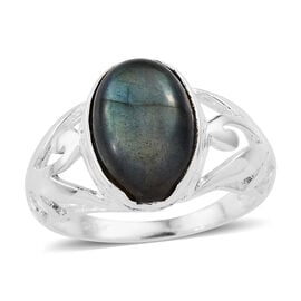 Pauls Island Labradorite (Oval) Ring in Sterling Silver 7.430 Ct.