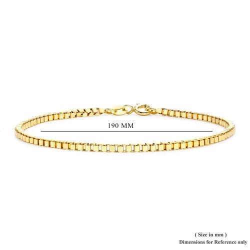 Close Out Deal 9K Yellow Gold Box Bracelet (Size 7.5)