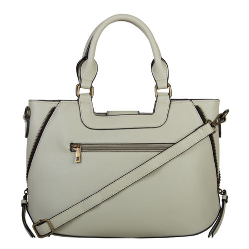 Bulaggi Collection - GOLDIE Handbag with Shoulder Strap and Zipper Closure (30x12x23cm) - Pastel Green