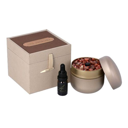 The 5th Season - English Pear & Freesia - Scented Red Agate Gems in Gift Box with Essential Oil