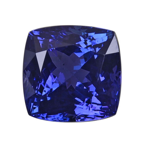 AAAA Tanzanite Cushion 10.27X10.44X8.43 Faceted 6.85 Ct.