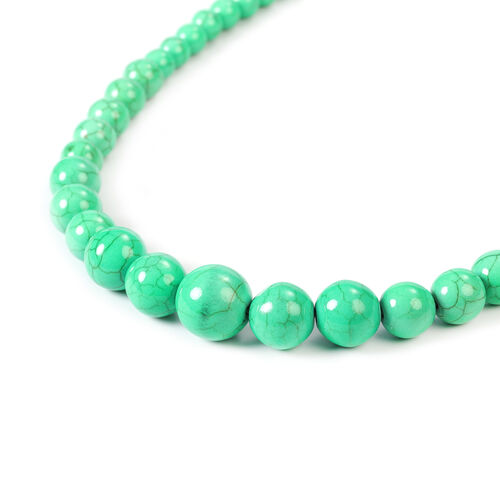 Green Howlite Beaded Necklace (Size 18-25) 279.00 Ct.