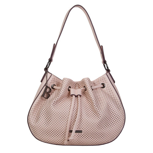 Bulaggi Collection - Penny Hobo Shoulder Bag with Drawstring and Magnetic Closure (Size 32x24x08 Cm)