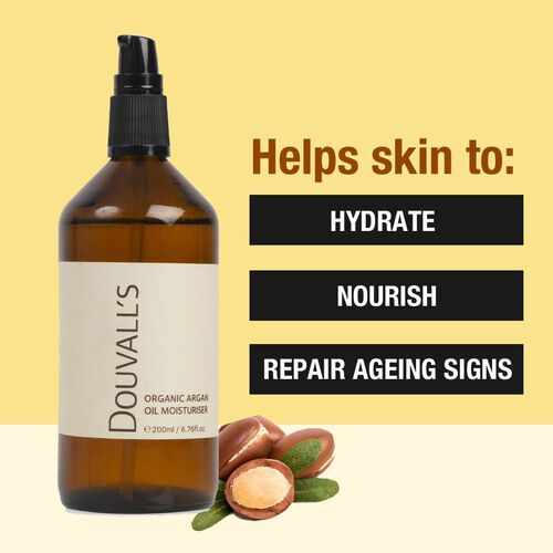Douvalls:100% Pure Organic Argan Oil Moisturiser - 200ml