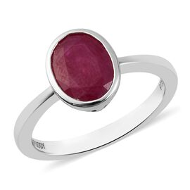 RHAPSODY 950 Platinum AAAA Burmese Ruby Solitaire Ring 2.25 Ct, Platinum wt 5.00 Gms