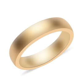 14K Gold Overlay Sterling Silver Band Ring, Silver wt 3.35 Gms.