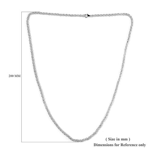 Sterling Silver Cable Chain Necklace (Size 24), Silver wt. 27.96 Gms