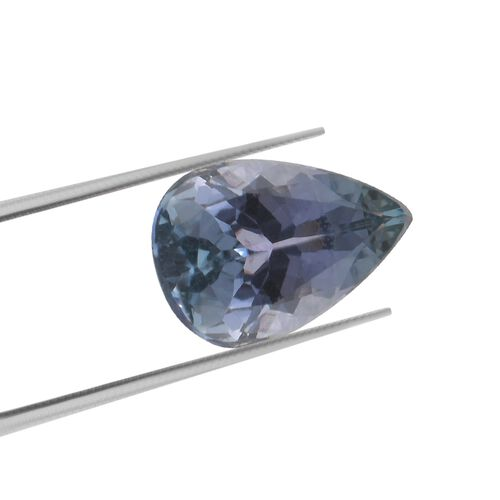 AA Peacock Tanzanite Pear 8.62x6.02x4.09 Faceted 1.26 Cts
