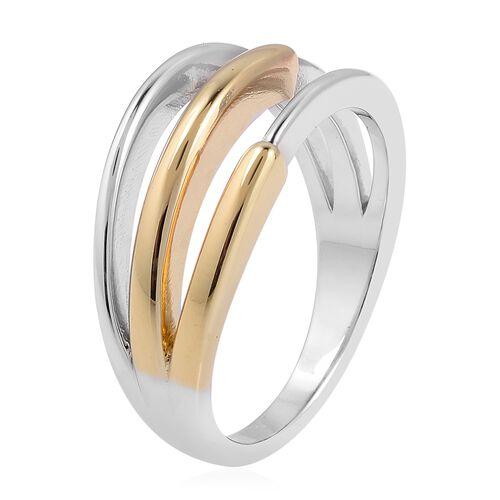 RACHEL GALLEY Bi Colour Sterling Silver Cerchio Ring