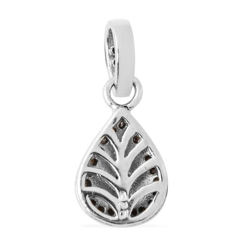 Close Out Deal Polki Diamond Pendant in Platinum Overlay Sterling Silver 0.40 Ct.