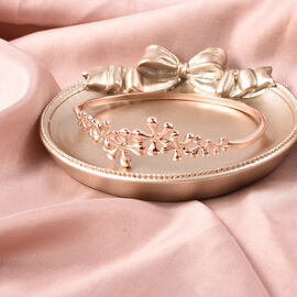 LucyQ Splash Collection - Rose Gold Overlay Sterling Silver Bangle (Size 7)