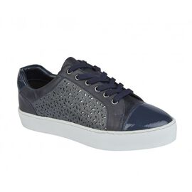 Lotus Navy Leather Cologne Lace-Up Trainers