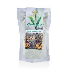 Gaya Warna: Green Tea Body Scrub Set (Incl.Powder & Coconut Bowl)