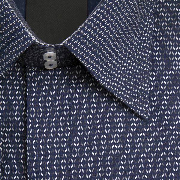 William Hunt Saville Row Forward Point Collar Dark Blue with White Shirt Size 17.5