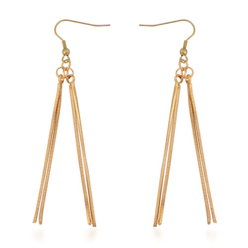 Hook Earrings and Necklace (Size 18 with Extender) in Gold Tone