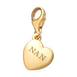 14K Gold Overlay Sterling Silver Nan Charm