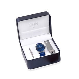 EON 1962 Japanese Movement 3ATM Water Resistant Watch with Interchangeable Genuine Leather Strap