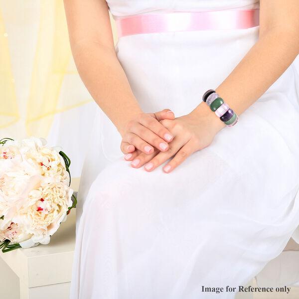 Multi Gemstone Stretchable Bracelet (Size 7) 441.00 Ct.