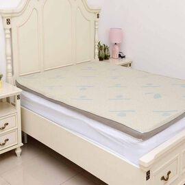 Gel Infused 7 Zone Memory Foam Mattress Topper (Size 150x200x5 Cm) - King
