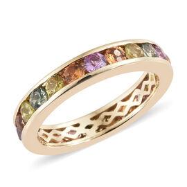 Multi Gem Stone 9K Y Gold Ring  2.750  Ct.